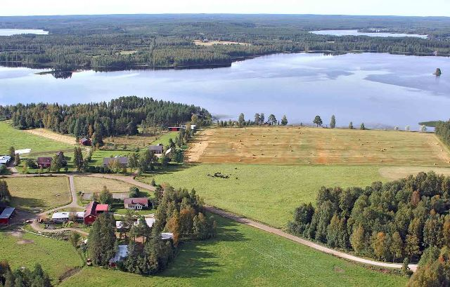 Jakola Farm from air